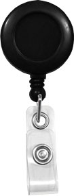 black round badge reel with belt clip