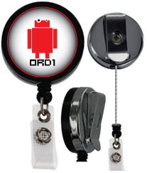 customized heavy duty steel cord badge reel