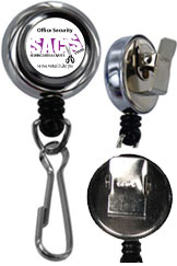 customized metal heavy duty badge reel